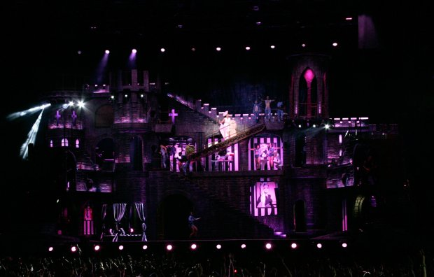 The set of Lady Gaga's Born This Way tour (Photo PictureGroup)