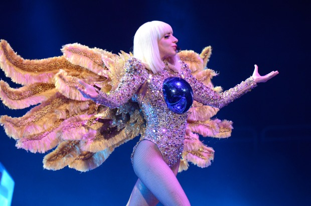 "Lady Gaga performs onstage during her ""artRave: The Artpop Ball"" at Consol Energy Center on May 8, 2014 in Pittsburgh City.  (Photo by Kevin Mazur/WireImage)"